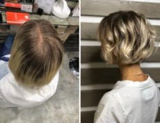 Color correction con capelli biondi 1