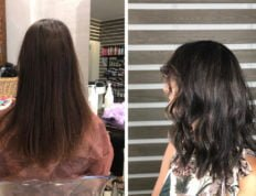 Applicare delle finissime Baby Light Balayage 5