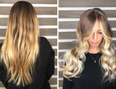Baby light Balayage su capelli biondi naturali