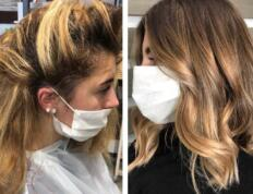 Color correction su capelli biondi con ricrescita 9